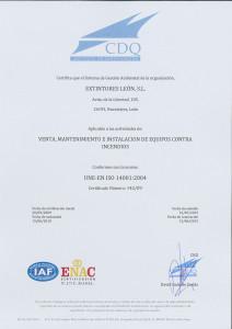 CERTIFICADO UNE_EN ISO 14001 ESP